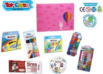 Σετ Ζωγραφικής Toy Color Σχολικό Ροζ