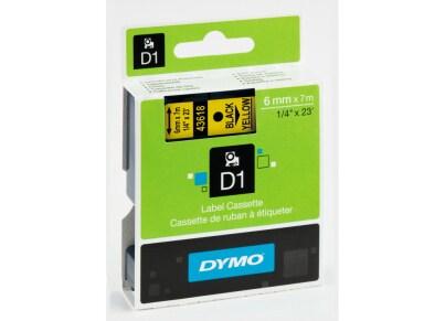 Κασέτα Ετικετογράφου Dymo Μαύρο/Κίτρινο 6 mm x 7m