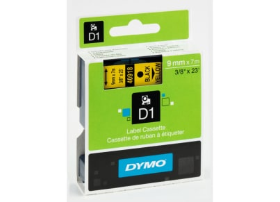 Κασέτα Ετικετογράφου Dymo Μαύρο/Κίτρινο 9 mm x 7m