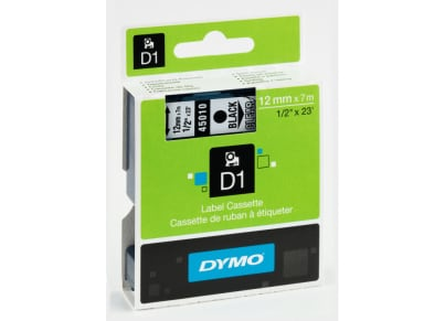 Κασέτα Ετικετογράφου Dymo Μαύρο/Διάφανο 12 mm x 7m