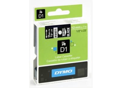 Κασέτα Ετικετογράφου Dymo Μαύρο/Άσπρο 12 mm x 7m