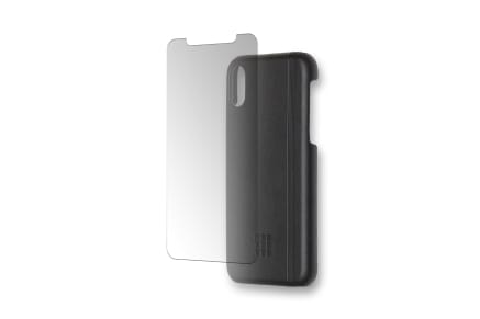 Σκληρή Θήκη Moleskine Και Προστασία Οθόνης Για Iphone X Black