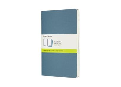 Σημειωματάριο Moleskine Cahier Plain Large Μπλε (3 Τεμάχια)