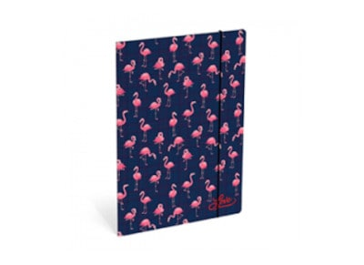 Ντοσιέ Κουτί Με Λάστιχο Lannoo Lov - Flamingo