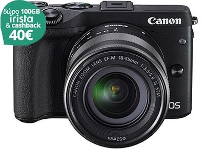 Mirrorless Camera Canon EOS M3 15-45mm Kit - Μαύρο φωτογραφία   βίντεο   mirrorless