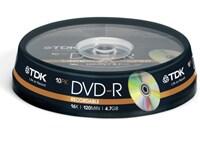 TDK DVD-R 16x 4,7GB - 10 τεμ - Μέσο αποθήκευσης