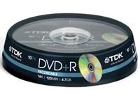 TDK DVD+R 16x 4,7GB - 10 τεμ - Μέσο αποθήκευσης
