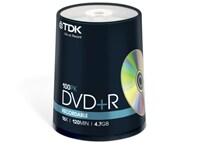 TDK DVD+R 16x 4,7GB - Spindle 100 τεμ - Μέσο αποθήκευσης