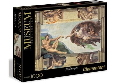 Puzzle Clementoni Museum Collection: Michelangelo, Η Γέννεση του Αδάμ 1000 κομμάτια (1260-31402)