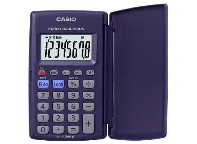 Αριθμομηχανή Casio 10-HL-820VER 8 ψηφίων Μπλε