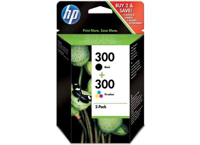 Μελάνι Μαύρο & Έγχρωμο HP Inkjet 300 Combo Pack (CN637EE)