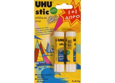 Κόλλα UHU Stick Magic 8.2gr 1 + 1 Δώρο