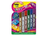 Κόλλα UHU Glitter Glue Blister 6 x 10ml