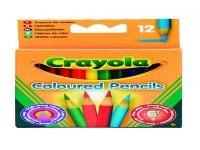 Crayola Μισές Ξυλομπογιές - 12 τεμάχια (034112)