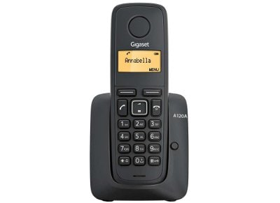 Gigaset A120Α Ασύρματο Τηλέφωνο Μαύρο