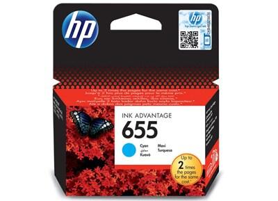 Μελάνι Κυανό HP InkJet 655 CZ110AE