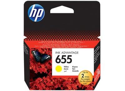 Μελάνι Κίτρινο HP InkJet 655 CZ112AE