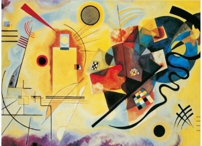 Puzzle Clementoni Museum Collection Kandinsky: Κίτρινο Κόκκινο Μπλε 1000 κομμάτια