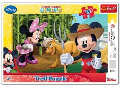 Παζλ Frame Mickey and Minnie In the Countryside - Trefl - 15 Κομμάτια