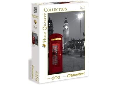 Puzzle Clementoni High Quality Collection: Λονδίνο -Τηλεφωνικός Θάλαμος 500 κομμάτια (1220-30263)