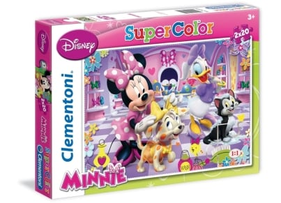 Puzzle Clementoni Super Color Disney: Minnie Mouse 2Χ20 κομμάτια (1200-24724)
