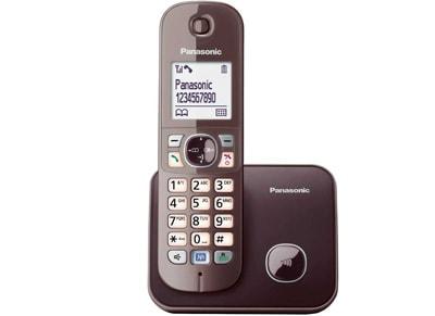 Ασύρματο Τηλέφωνο Panasonic KXTG6811GRA Καφέ