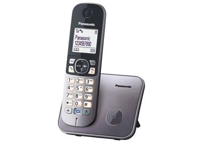 Panasonic KX-TG6811GRM Ασύρματο Τηλέφωνο Ασημί