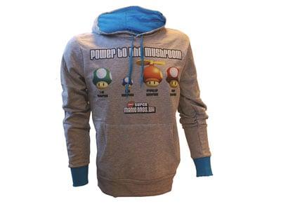 Φούτερ Nintendo Power to the Mushroom Γκρι - L