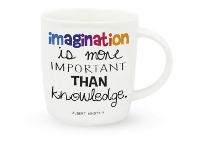 Κούπα Legami - Imagination is More Important Than Knowledge.