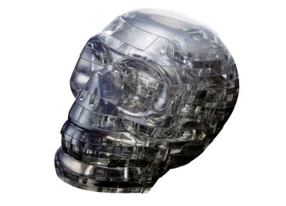 Crystal Puzzle Black Skull 3D