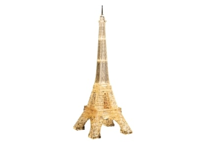 Crystal Puzzle Eiffel Tower Gold 3D