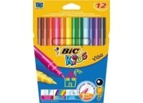 Μαρκαδόροι Ζωγραφικής BIC Visacolor Fine (12 τεμάχια)