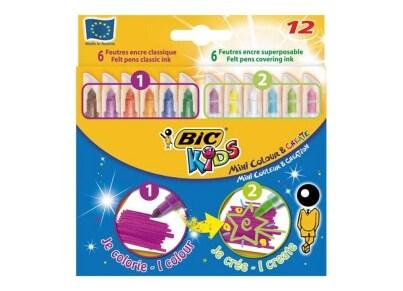 Μαρκαδόροι Ζωγραφικής BIC Mini Colour & Create (12 τεμάχια)