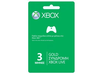 Xbox Live Gold - Συνδρομή 3 Μηνών