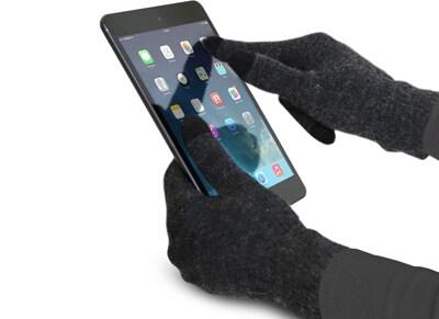 SBS Touch Gloves Large Γκρι - Γάντια για οθόνη αφής TE0UGT1LG
