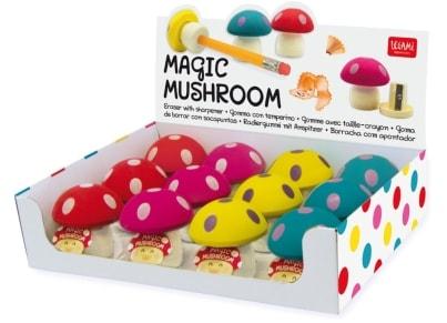 Γόμα & Ξύστρα Magic Mushroom (1 τεμάχιο)