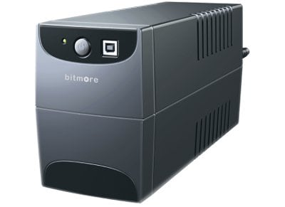 Bitmore Line UPS 650VA Σύστημα UPS Ανθρακί