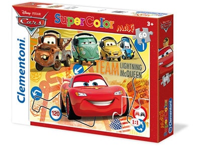 Puzzle Clementoni Super Color Disney Cars: Pit Crew 60 maxi Κομμάτια
