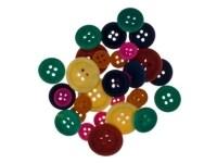 Κουμπιά Ξύλινα I-Mondi 10620001 Χρωματιστά 30 Τεμάχια