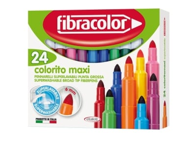 Μαρκαδόροι Ζωγραφικής Etafelt 630SW024SC Colorito Maxi 24 Τεμάχια