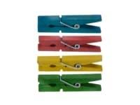 Μανταλάκια Χειροτεχνίας I-Mondi 10120001 Ξύλινα Χρωματιστά 48 Τεμάχια