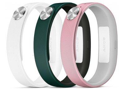 Sony SmartBand Wrist Strap Ανταλλακτικά Λουράκια Λευκό/Πράσινο/Ροζ - SWR10 Fashion Small