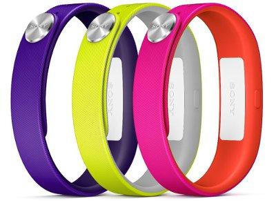 Sony SmartBand Wrist Strap Ανταλλακτικά Λουράκια Κίτρινο/Ροζ/Μωβ - SWR10 Active Small