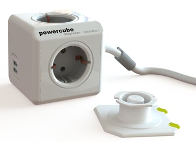 Πολύπριζο Powercube Extended USB Λευκό/Γκρι