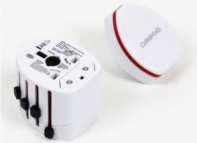Αντάπτορας Πρίζας Universal - Omega Travel Adaptor 4 in 1 OTRA2 Λευκό gadgets   funky stuff   αξεσουάρ ταξιδίου