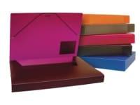 Φάκελος Κουτί TYPOTRUST με Λάστιχο 25x35cm Μoβ