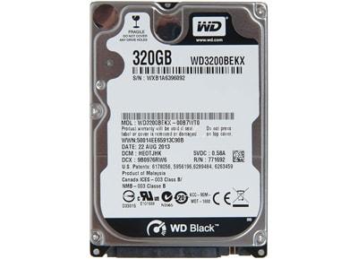 Εσωτερικός δίσκος Western Digital Scorpio Black 320GB 2 5  SATA3  WD3200BEKX