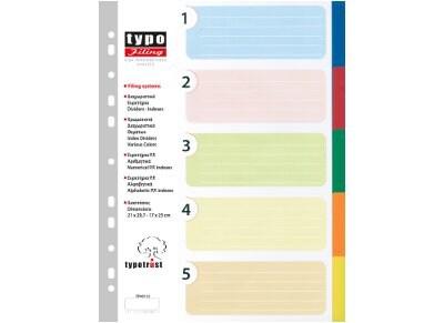 Διαχωριστικά TYPOTRUST 5 Θεμάτων Α4 Χρωματιστά