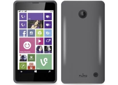 Θήκη Nokia Lumia 630/635 - Puro Silicon Cover Μαύρο