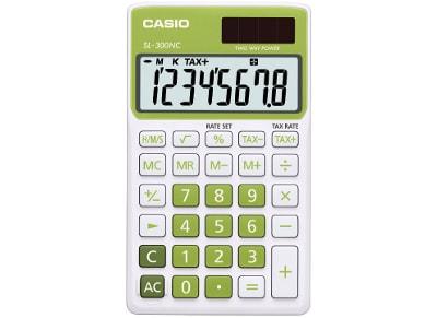 Αριθμομηχανή Casio Basic SL-300NC 8 Ψηφίων Πράσινο